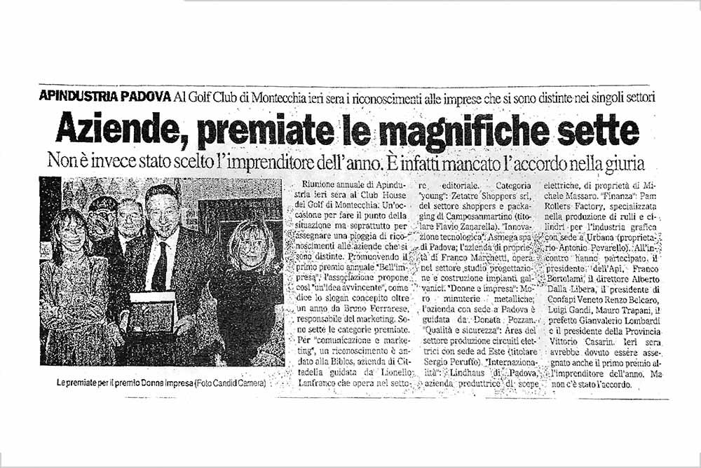 Premio Bell'Impresa – Il Gazzettino di Padova | Forlani Studio