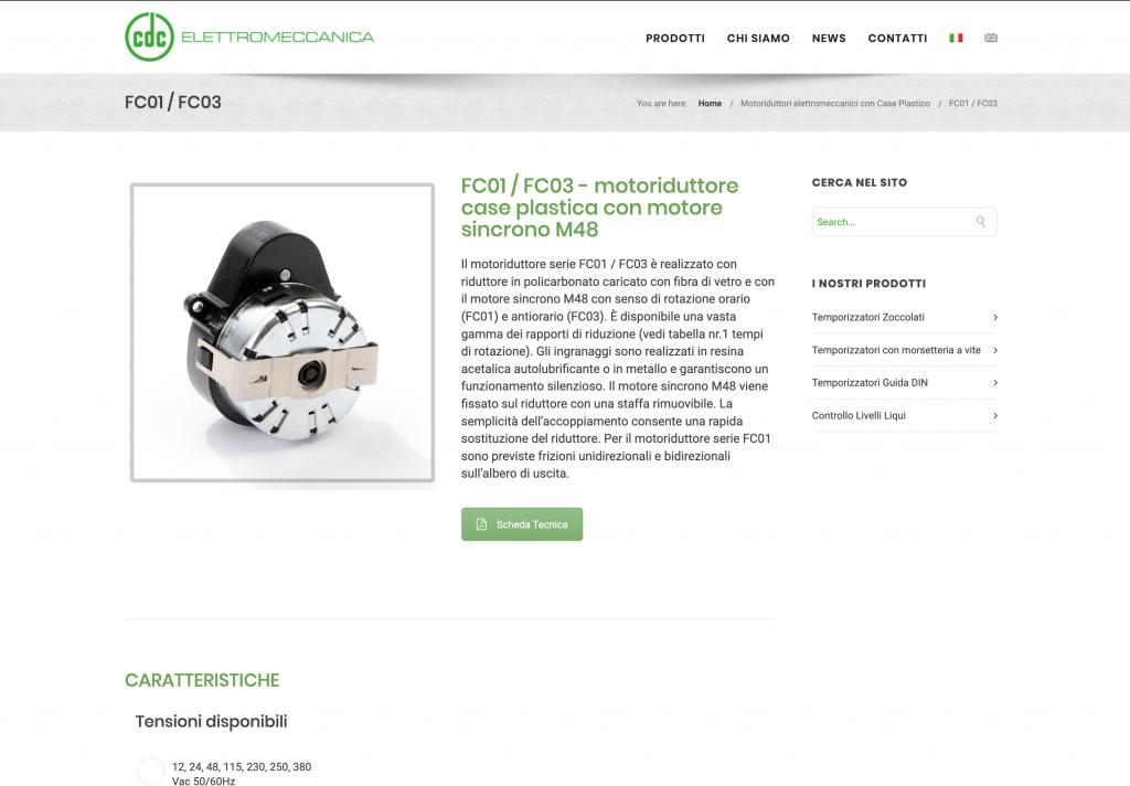 sito web CDC elettromeccanica