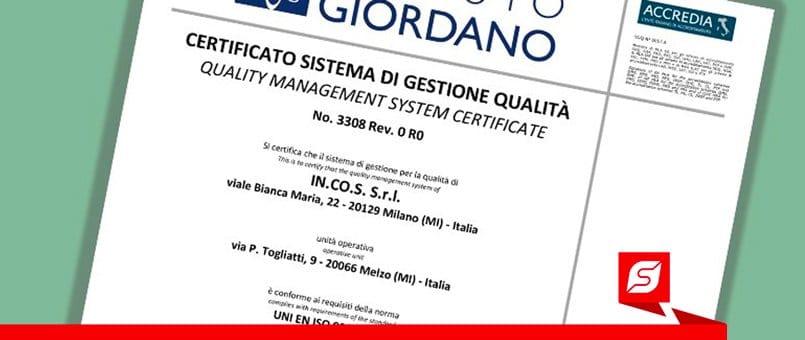 certificazione incos fs | Forlani Studio